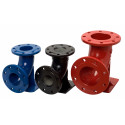 Flanged Ductile-Iron Elbow with pad