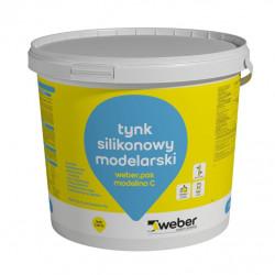 Tynk modelarski WEBER.pas modelino C, imitacja betonu