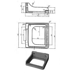 Stopnie włazowe DIN 1212 G-ES, 2 otwory, przykręcane na 2 śruby