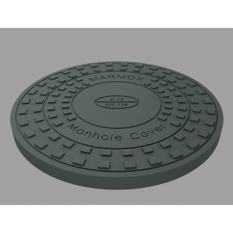 Właz polimerobetonowy AO 600 1.5t MARMOX (korpus+pokrywa)