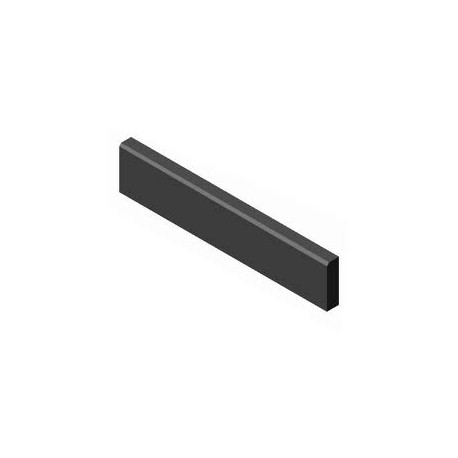 BerdingBeton Round Top Paving Edging 6x25x100 cm, black