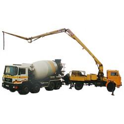 Concrete pump, range 24 m