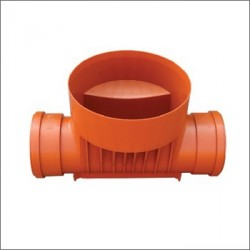 Straight Inspection Chamber Base PVC 425/160
