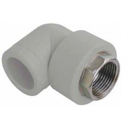 PP Female Elbow 90° with key inlet