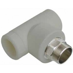 PP Male Tee with key inlet