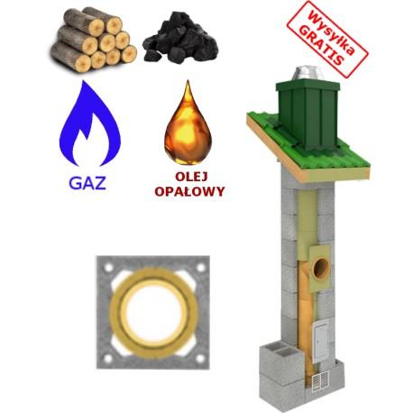 Komin uniwersalny ( gaz,drewno,węgiel...)