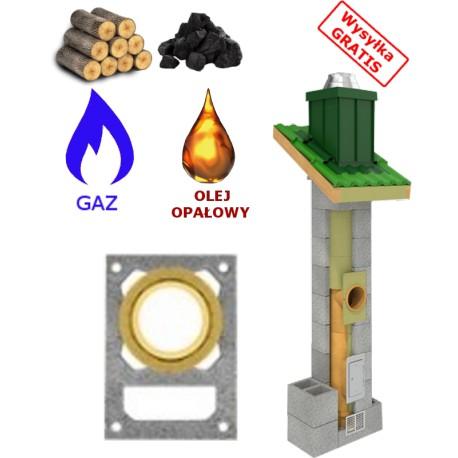 Komin uniwersalny ( gaz,drewno,węgiel...) + WENT.