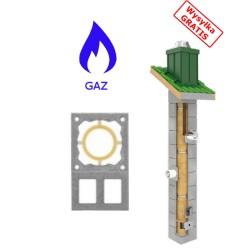 Schornstein Bausatz Gas-TURBO + Doppellüftung