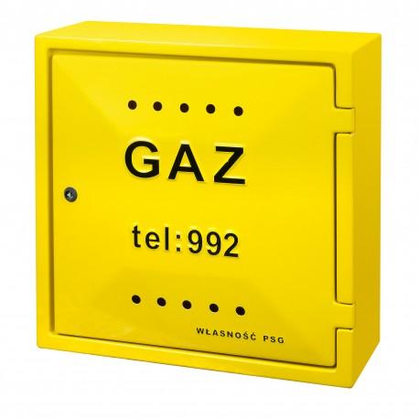 Szafka gazowa żółta