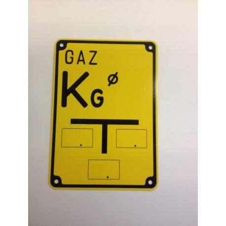 """Tablica ostrzegawcza """"GAZ KG"""""""