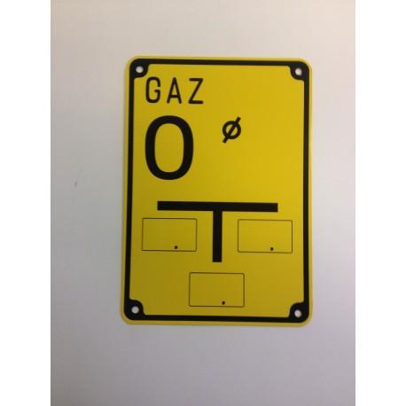 """Tablica ostrzegawcza """"GAZ O"""""""