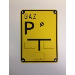 """Warnzeichen """"GAS P"""""""