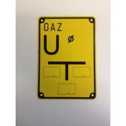 """Tabliczka oznaczeniowa GAZ """"U"""" (upust)"""