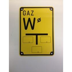 """Warnzeichen """"GAS W"""""""