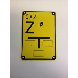 "Warning sign ""GAS Z"""