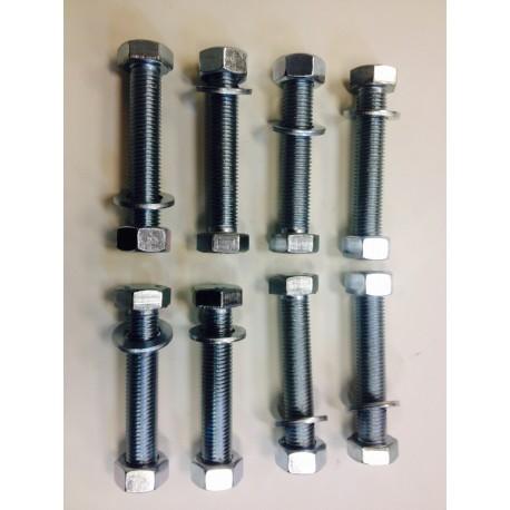 Śruba M-20x90 ocynk pełny gwint (ZESTAW 8 szt+nakrętki +podkładki )