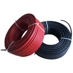 Solar panel cable 1x6mm / 100 m (inc. MC4 connector)