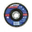 Listkowa tarcza szlifierska 115x22 mm, granulacja 36