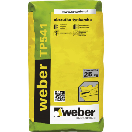 Obrzutka cementowa WEBER TP541 25 kg