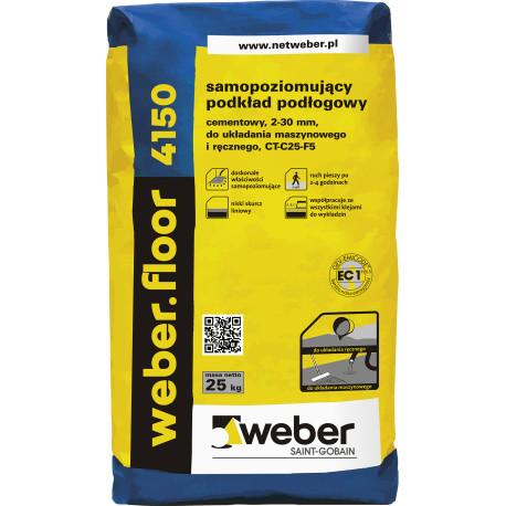 Samopoziomujący podkład podłogowy 4150 WEBER - 25 kg