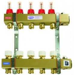 """Steel Central Heating Separator 1"""" (from 2 to 10 sections) to the mixer module MMB"""