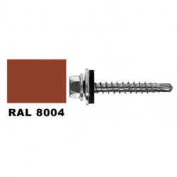 Farmer screw RAL 8004, metal sheet for 4 | 8x35 mm pack 250 pcs