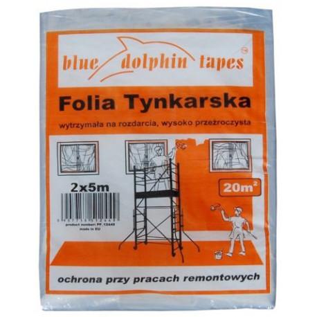 Folia tynkarska 2x5m pomarańcz.op.