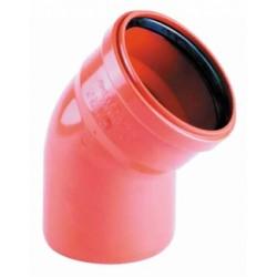 Kolano PVC-U kanalizacyjne 110/15°