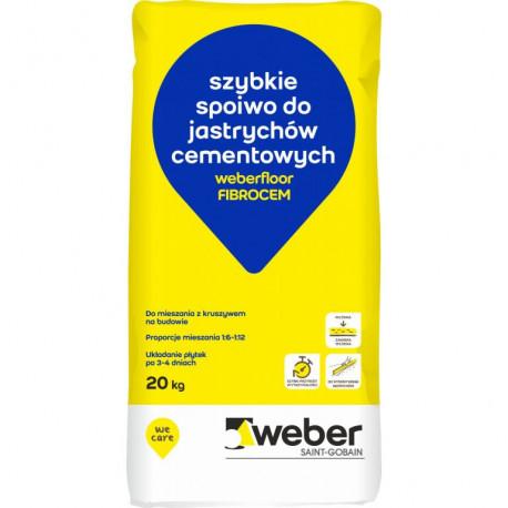 Weber.floor FIBROCEM szybkowiążące spoiwo do wykonywania jastrychów cementowych 20 kg