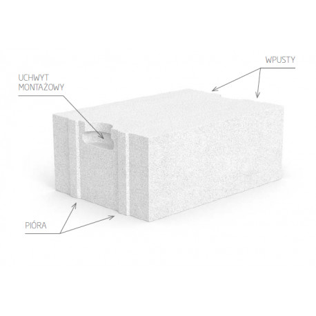 Siporex aerated concrete block 7,5 cm