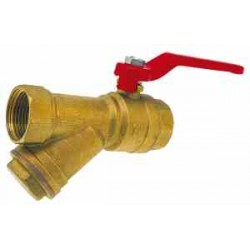 Y-Strainer Water Ball Valve 1""