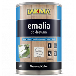White enamel semi-gloss 800ml DREWNOKOLOR