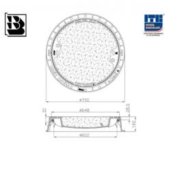 Mannloch für DO 680 Wette H140 DIN Hydrotop ohne Entlüftung