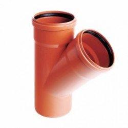 Trójnik PVC-U kanalizacyjny 160x160/45˚