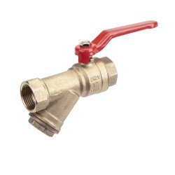 Y-Strainer Water Ball Valve ¾""